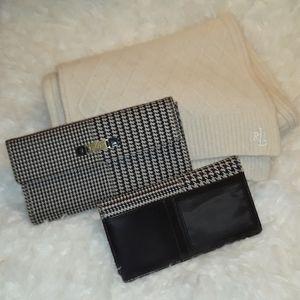 Authentic Ralp Lauren wallet & Scarf Bundle